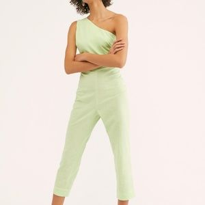 NEW Free People Green One shoulder Looking Back